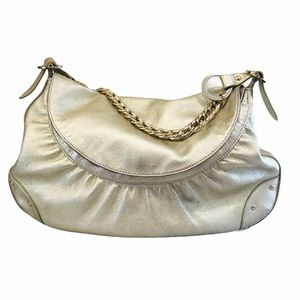 Bebe Gold Leather Purse